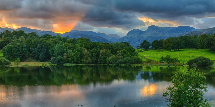 Sunset at Loughrigg Tan in Lake District