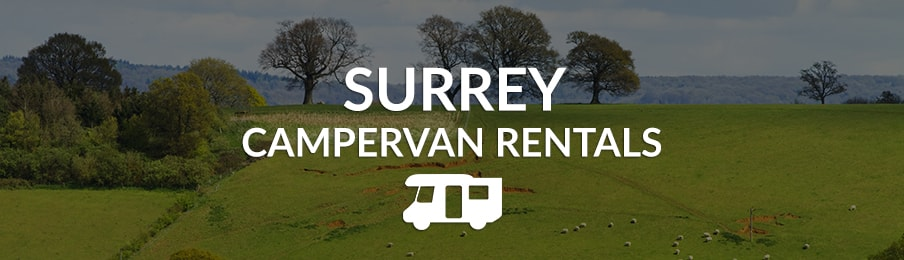 surrey campervan rentals in the UK banner