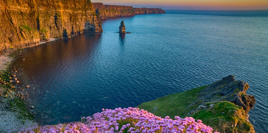the cliffs of moher castle ireland