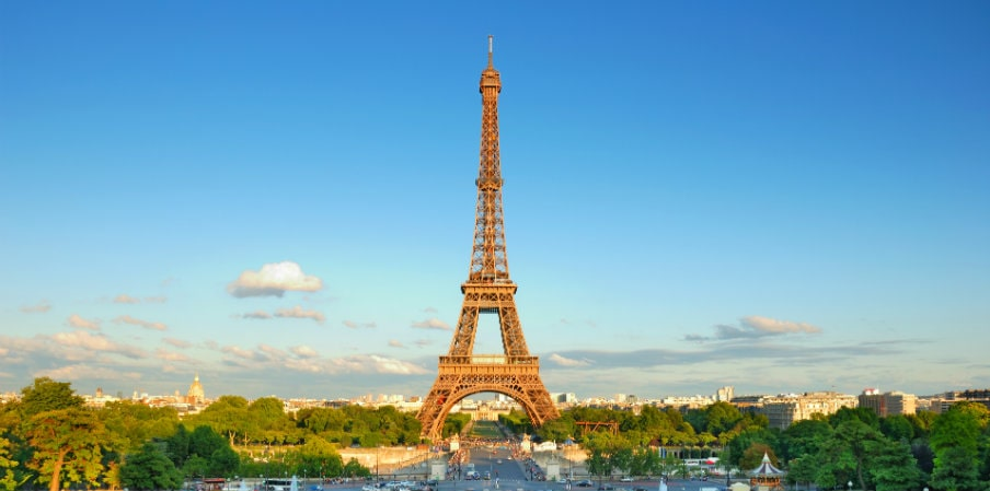 the eiffel tower seen from trocadero paris france