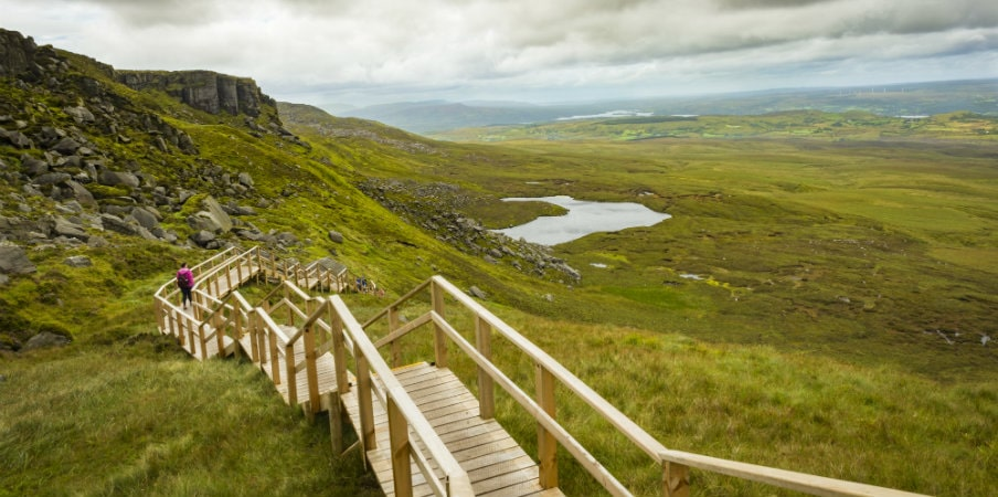 the stairway to heaven cuilcagh mountain