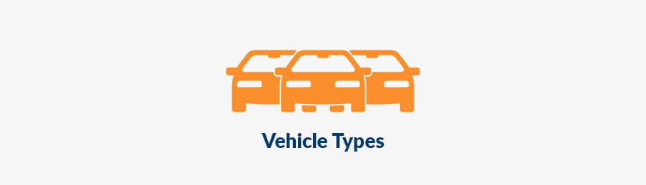 types of vehicles to rent in the UK banner