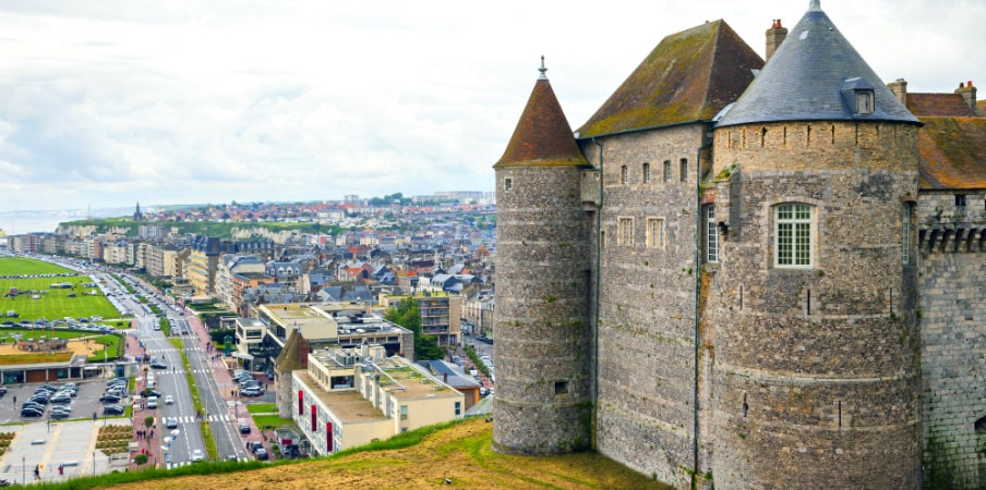 view on the castle and city dieppe normandy france