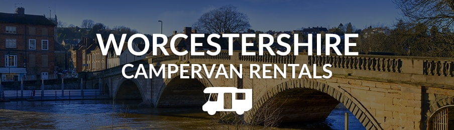 worcestershire campervan rental in the UK banner