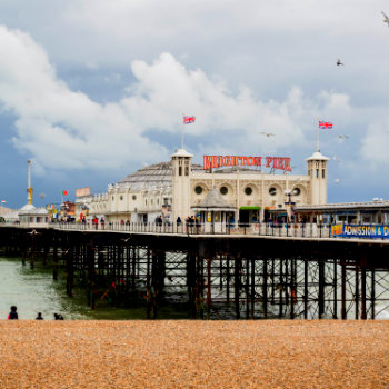 World's famous Brighton Pier in England