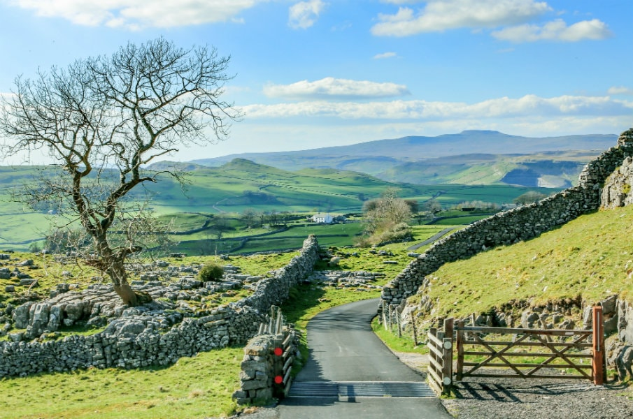 Road through Yorkshire Dales